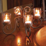 Wine Bottle Votive Candelabra