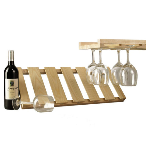 Hanging Stemware Rack, Wood