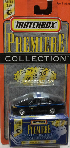 Matchbox Premiere Series 18 State Police Collection Montana Highway Patrol Die Cast Car