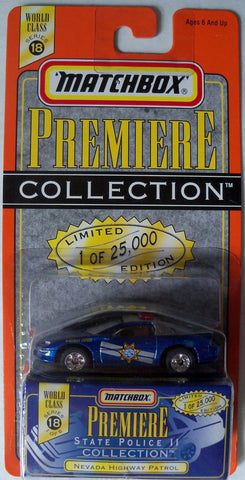 Matchbox Premiere Series 18 State Police Collection Nevada Highway Patrol Die Cast Car