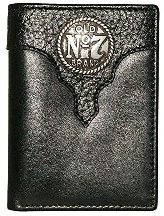Jack Daniel's Old No 7 Black Leather Trifold Wallet