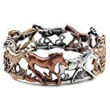 Modern New Horse Bracelet With Alternating Horse Designs Stretches To Variety Of Sizes
