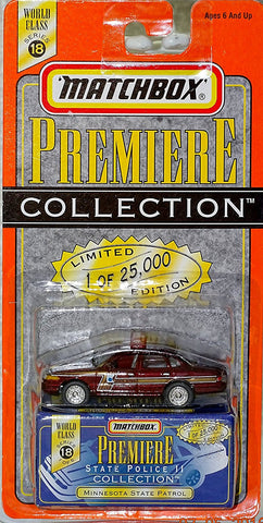 Matchbox Premiere Series 18 State Police Collection Minnesota State Patrol Die Cast Car