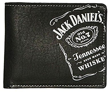 Jack Daniel's Whiskey Collection Black Billfold Wallet With Embroidered Logo