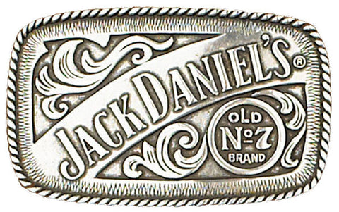 "Modern New Jack Daniels antique silver color Old No.7 Belt Buckle Western  4x2 1/2"" G-5007"