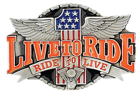 Vintage LIVE TO RIDE RIDE TO LIVE 1994 BELT BUCKLE  X-7 - New