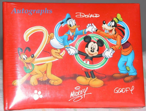 Modern New Walt Disney World Theme Park Exclusive Year 2000 Autograph Book