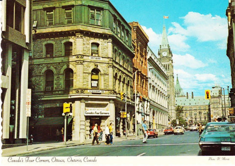 Vintage Postcard Of 1970s Canada's Four Corners Ottawa Ontario Canada, Sparks Street Mall