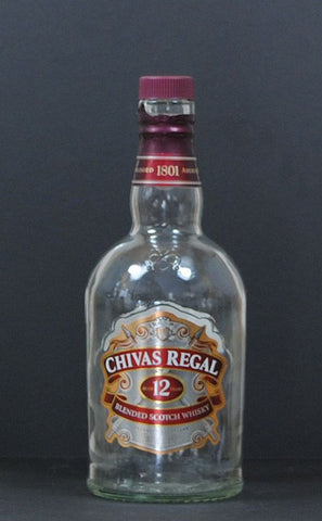 Modern Used Chivas Regal Blended Scotch Whiskey 750ml Empty Liquor Bottle