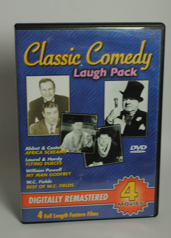 Modern Pre-Owned DVD Classic Comedy Laugh Pack (Africa Screams / Flying Dueces / My Man Godfrey / Best of W. C. Fields)  2003