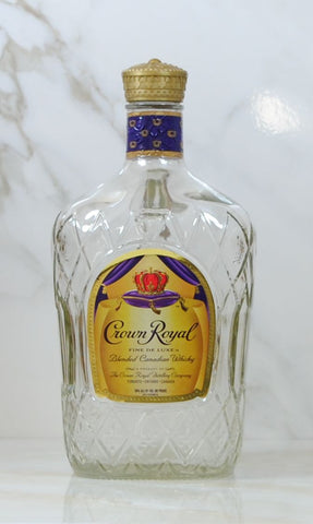 Modern Used Crown Royal Blended Canadian Whiskey 1.750L Empty Liquor Bottle