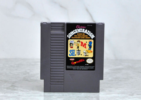 Vintage Nintendo Video Game (NES) 8-Bit Concentration (NES) by GameTek 1990