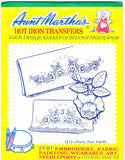 Vintage Aunt Martha's Hot Iron Transfers From Colonial Patterns RETIRED 3213 Pretty Rose Motifs For Decorative Linens