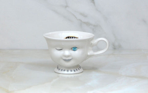 Vintage Baileys Irish Cream Winking Lady Tea Cup Coffee Cup