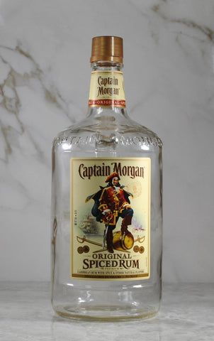 Modern Used Captain Morgan Original Spiced Rum 1.75ml Empty Liquor Bottle