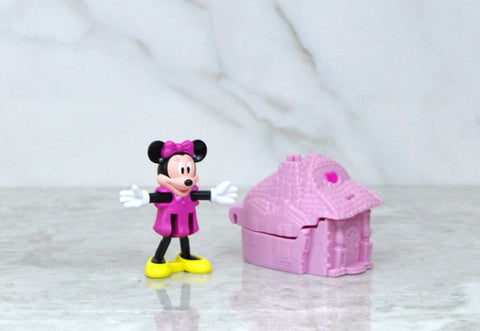Vintage Blockbuster Exclusive Walt Disney Minni Mouse And Pink Castle toy 1996
