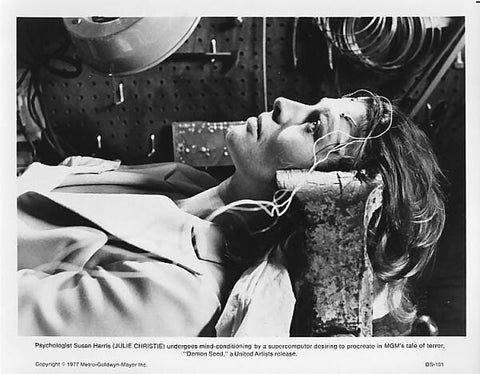Vintage 1977 Julie Christie Demon Seed Vintage 8x10 Black and White Photograph