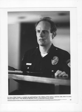 Vintage 1991 Matt Frewer 8x10 Black and White Photograph - Studio Promotion - The Taking Of Beverly Hills