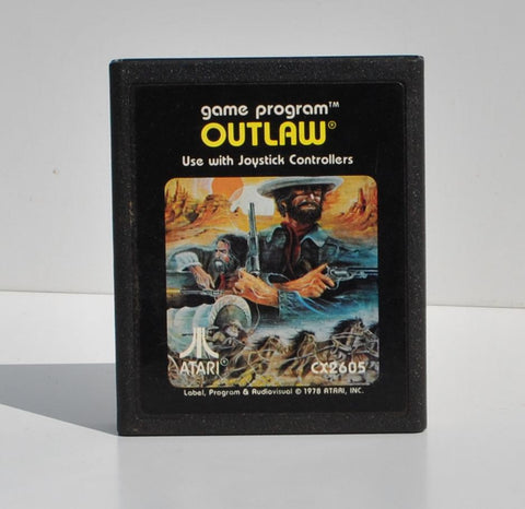 Vintage Atari 2600 Outlaw Game From Atari 1979