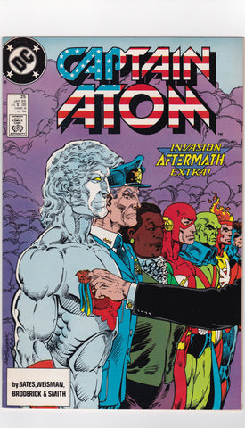 Vintage Captain Atom Comic Book #25 January 1989