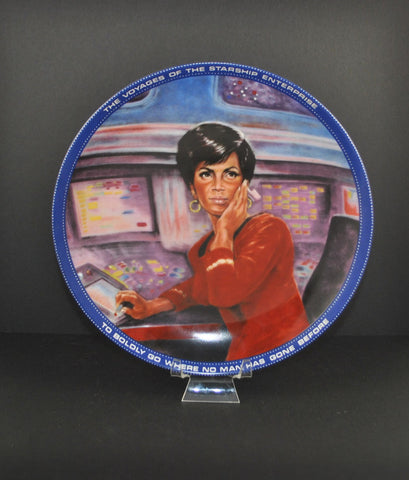 Vintage 1983 Mr. Lt. Uhura Communications Officer Plate 0870b - Hamilton Collection