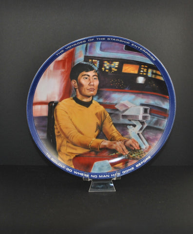 Vintage 1983 Mr. Sulu Helmsman Plate 3135B - Hamilton Collection - Susie Morton