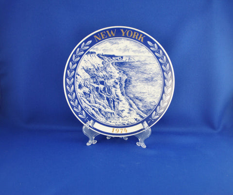 Vintage New York Limited Edition Collectible Plate Montauk Point Long Island 1974 Chateau by Kesa in Denmark
