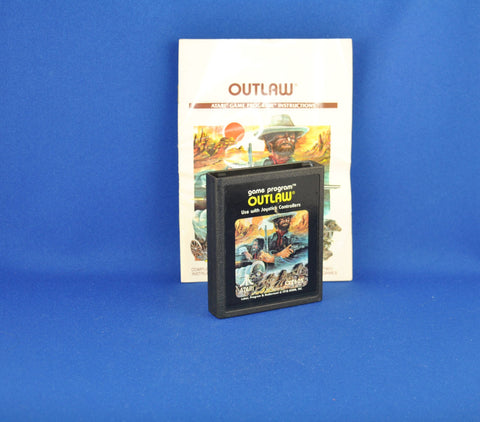 Vintage Atari 2600 Outlaw Game From Atari 1979 With Instruction Manual