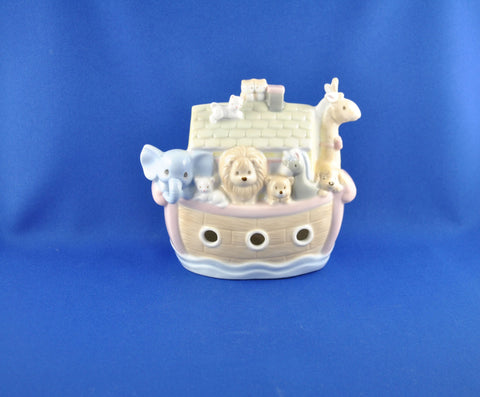 Vintage 1995 Precious Moments Noah's Arc Porcelain Coin Bank By Enesco