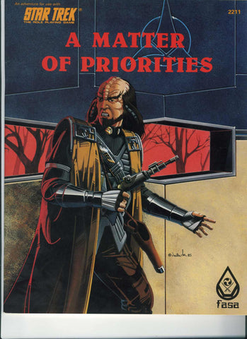 Vintage Star Trek The Original Series A Matter Of Priorities FASA RPG No 2211 1985 Role Playing Game