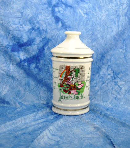"Vintage ""Irish Luck"" Porcelain Decanter 1972 Stitzel Weller Distillery Old Fitzgerald Collector's Gallery"