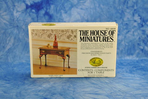 Vintage The House Of Miniatures X-ACTO series Queen Anne Table Chippendale 1980s Unassembled Authentic Reproduction #40038 Designed USA