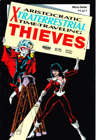 Vintage Aristocratic Xtraterrestrial Time Traveling Thieves Comic Book Vol 1 #1 August 1986