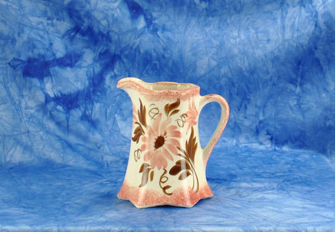 Vintage 1940s Cash Family Pottery Hand Painted Small Pink Creamer Pitcher Erwin Tennessee