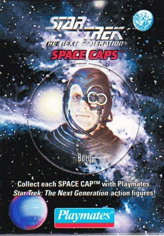 Vintage Star Trek The Next Generation Playmates Space Caps Trading Card 1994 Borg