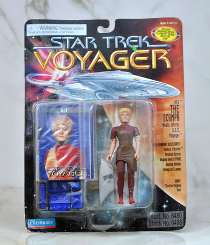 Vintage Star Trek Voyager KES The OCAMPA Medic Intern USS Voyager Action Figure Playmates 6480 6488 1995