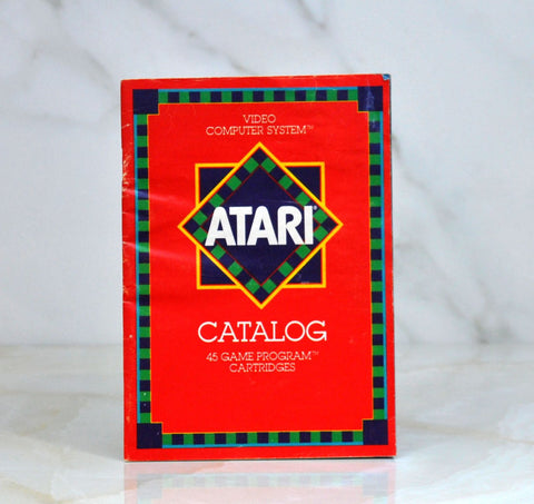 Vintage Atari Game Catalog From 1981 Covering 45 Different Games Defender
