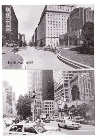 Vintage Postcard Of Jeff Prant Depicting Park Avenue New York City New York From 50th Street In 1922