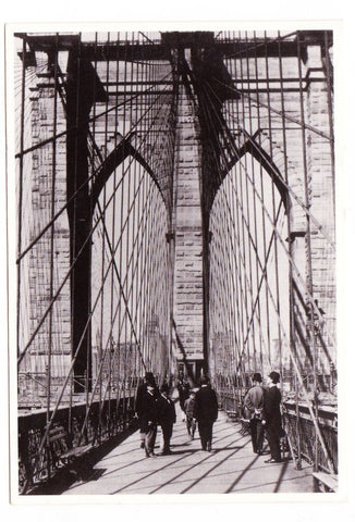 Vintage Postcard Of CATCH Netherlands Depicting The Brooklyn Bridge 1886 Black And White
