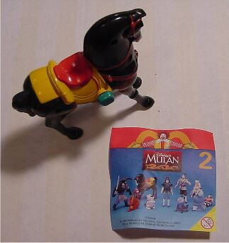 Vintage McDonald's Happy Meal Toy Disney's Mulan Black Horse #2 NIP 1998