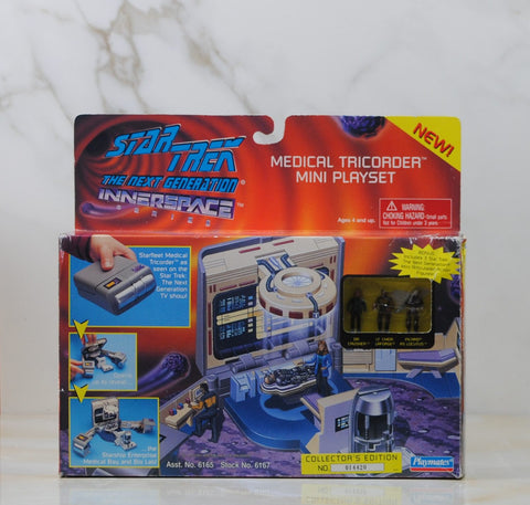 Vintage Star Trek The Next Generation Medical Tricorder Mini Play Set, Playmates, 6167, Opened Box, 1995