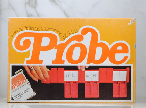 Vintage Probe Game of Words 1976 by Parker Brothers, Word Game