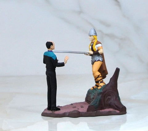 Vintage New Star Trek Voyager Doctor Miniature Collectible Diorama