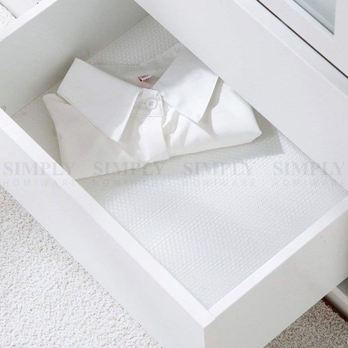 2x EVA Drawer Liner Non Slip Anti Mat Grip Roll Matting Cabinet Kitchen 45x150cm - Simply Homeware