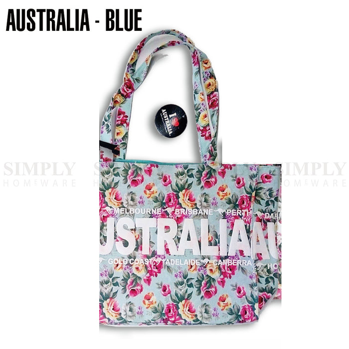 Floral Handbag Tote Canvas Waterproof Shoulder Bag Women Large Capacity Aussie - Simply Homeware