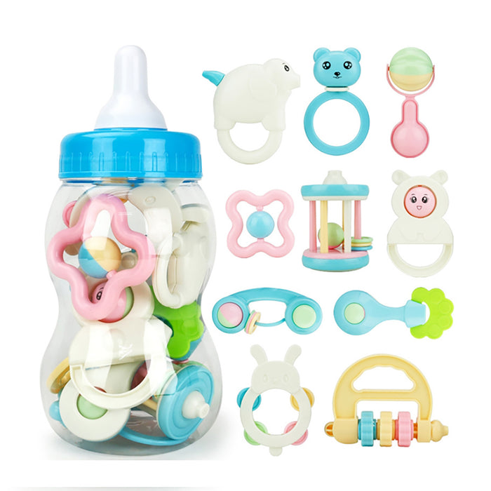 Truboo Baby Rattles Teethers Toy Set Infant Grab Shaking Bell Newborn 10Pcs