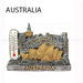 2x Australian Souvenirs Fridge Magnets Sydney Melbourne Thermometer Aussie Gift - Simply Homeware