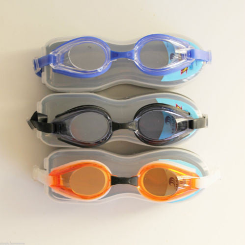 Anti-fog UV Swimming Sport Goggles Glasses + Protective Case , Goggles - n/a, Simply Homeware - 1