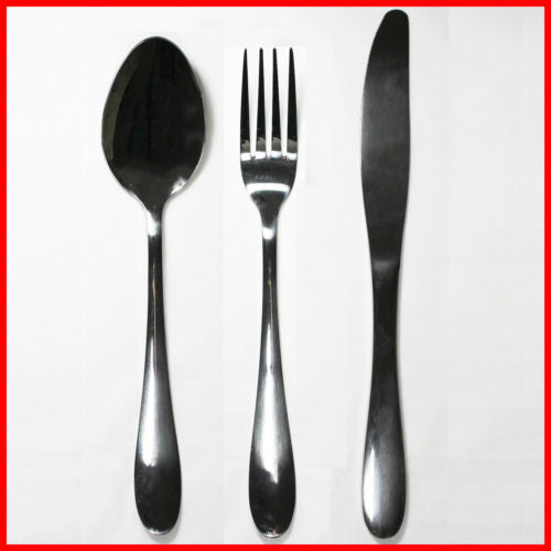 36x Piece Quality Stainless Steel Cutlery Set Bulk Wholesale Spoon Fork Knife - Simply Homeware