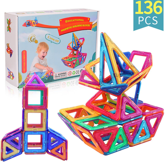 Truboo Kids Magnetic Building Blocks Children 3D Tiles DIY Kits Toys 40/68Pcs